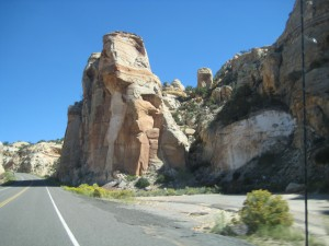 On the road Escalante to Torrey