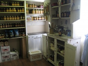 Pantry shelves at Gifford Homestead