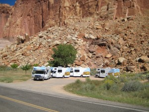 Swedish tourists in RV Caravan visit Fruita Schoolhouse