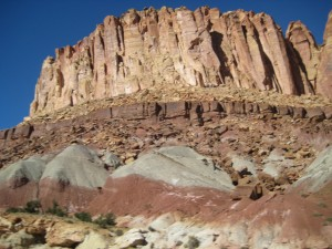 Canyons on Scenic Drive in Capitol Reef