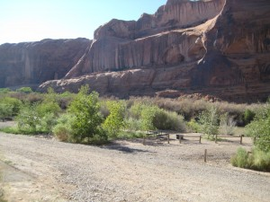 Empty BLM campsites along Colorado River