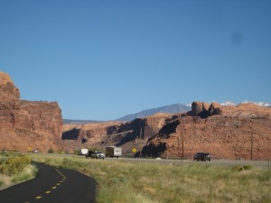Coming into Moab on bike pathway
