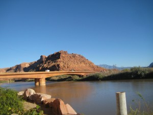 Crossing the Colorado River into Moab