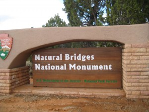 Entrance to Natural Bridges