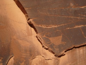 Petroglyph of ancient people