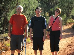 Kirk hikes with Ryan and Alice in Sedona