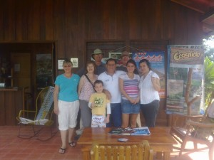 The Rancho Cerro Azul Family say goodbye to us