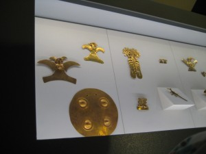 Gold fashioned in human figures