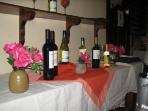 Selection of Wines at Hotel La Rosa de America