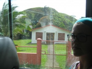 Buildings on drive to Lake Arenal