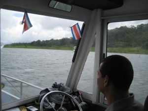Our driver on boat
