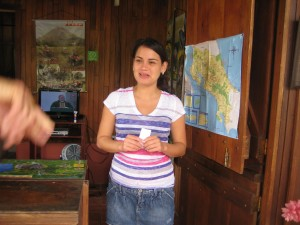 Tatiana, hostess at Hotel Rancho Cerro Azul