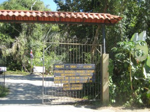 Entrance to Manuel Antonio Park