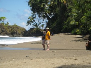 Chris and Dave on Cano Island