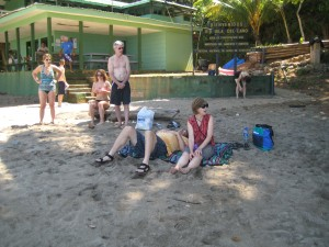 Connie and Bill on the beach at Cano Island