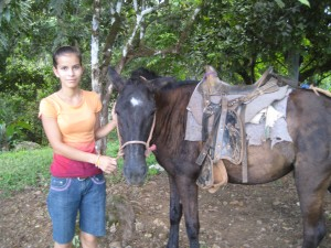 Cynthia and her horse