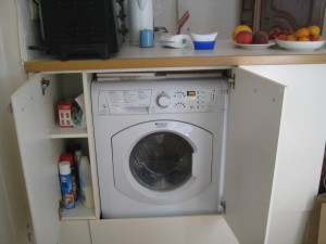 Washing machine and dryer in one machine