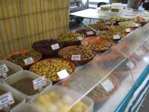 Olives at  La Butte aux Cailles open-air market