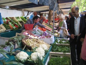 Vegetables at  La Butte aux Cailles open-air market