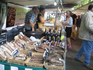 Spices, nuts and dates at  La Butte aux Cailles open-air market