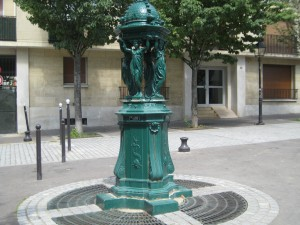 Fountain in La Butte aux Cailles