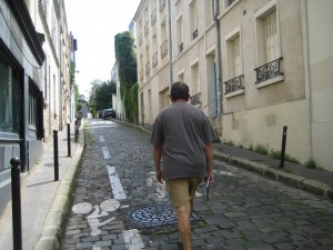 Walking historical streets of our Paris neighborhood
